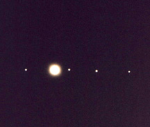 Jupiter and the 4 Galilean Moons